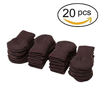 Cuccu marrón color muebles de lana para tejer calcetines/pata de la silla piso Protector