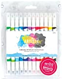 docrafts Artiste Dual Tip Brush Markers, Bright, 12-Pack