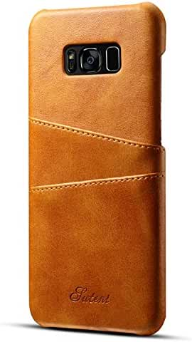 Samsung Galaxy Wallet Phone Case, Slim PU Leather Back Case Cover With Credit Card Holder