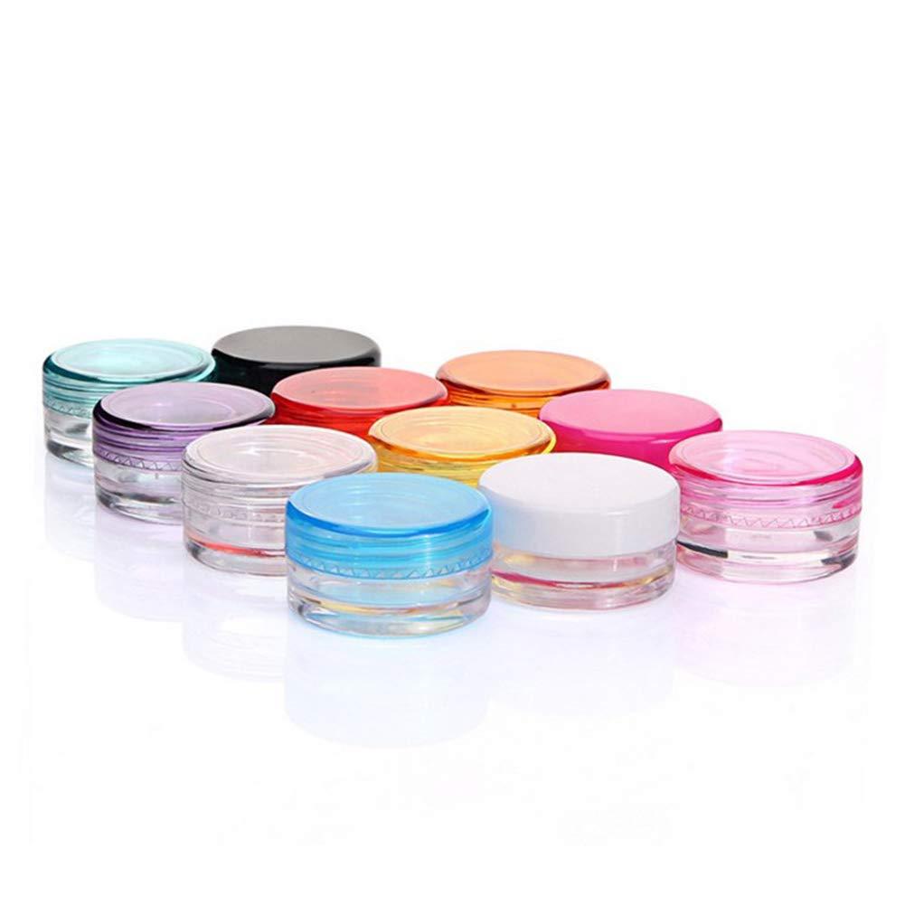 YaptheS 20 Set 5 g di plastica vaso crema con Sealed caso della pillola coperchi contenitore di orecchino Kit da viaggio contenitore cosmetico per i cosmetici, balsami, lozioni, balsami e crema grand