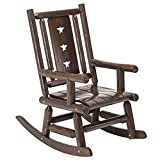 Cheap Wood Outdoor Rocking Chair Rustic Porch Rocker Heavy Duty Log Chair Wooden Patio Lawn Chairs Oversize Furniture for Adult