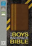 NIV, Boys Backpack Bible, Imitation Leather, Brown