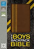 img - for NIV, Boys Backpack Bible, Imitation Leather, Brown book / textbook / text book