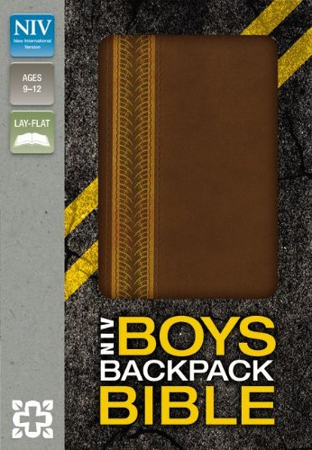 (NIV, Boys Backpack Bible, Imitation Leather, Brown)