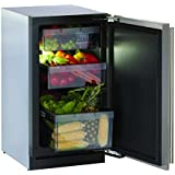 U-Line 3018RFS00 Modular 3000 18 Energy Star Freestanding Counter Depth All Refrigerator with 3.4 cu. ft. Capacity (Stainless Steel)