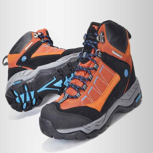 Climbing Walking Men Outdoor Breathable Shoes GOMNEAR Hiking Sneakers Non Boots Orange Slip Top High Trekking Waterproof nYHF7Yqwa