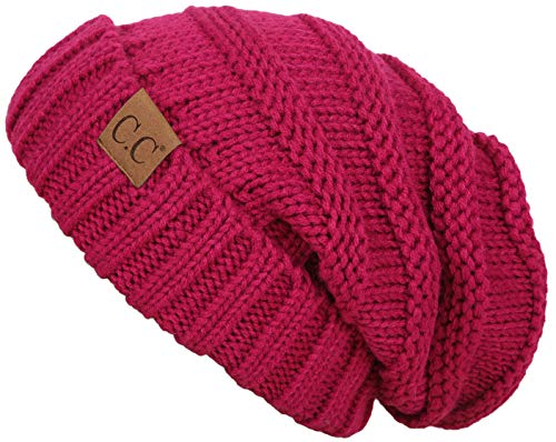 c12694ebd99 FunkyJunque Trendy Warm Oversized Chunky Soft Oversized Cable Knit Slouchy  Beanie