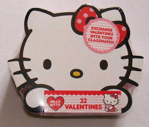 Hello Kitty Valentine Box with 32 Valentine Cards – Hello Kitty Valentine Cards