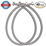 HOMEIDEAS 40-Inch Faucet Connector Braided Stainless Steel Supply...
