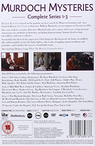 Murdoch Mysteries - Series 1 -3 Box Set [DVD]: Amazon co uk: Yannick