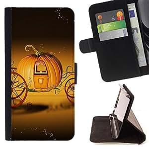 Dragon Case- Mappen-Kasten-Prima caja de la PU billetera de cuero con ranuras para tarjetas, efectivo Compartimiento desmontable y correa para la mu?eca FOR Samsung Galaxy S6 G9200- Halloween