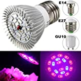 Growing Lamps - 4w E27 E14 Gu10 12 Red 6 Blue Led Grow Light Plant Lamp Garden Greenhouse Plant Seedling Light - Led Grow Plant Light Garden Indoor Greenhouses Herbs Herb- For - 1PCs