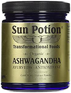 Pure Organic Ashwagandha Root Powder 111g - Ashwaganda Herbal Supplement Healthy Aid for Stress Depression Anxiety Energy Liver Thyroid Adrenal - Premium and All Natural