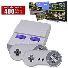 Super Mini Game Console, Retro Video Console BestSellerAmazinTrendz Built-in 400Games, 8Bit AV NES Console