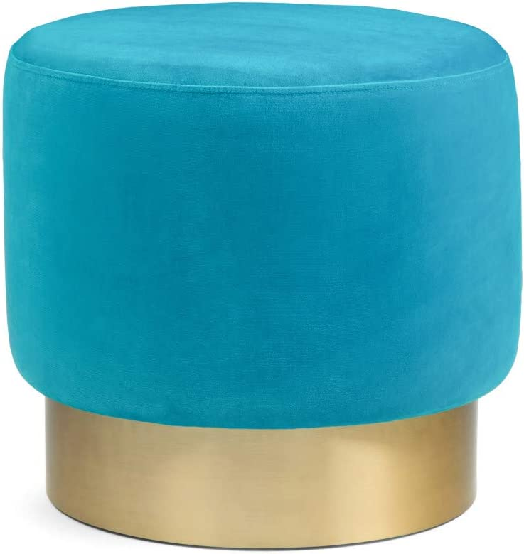 SIMPLIHOME Bardoe We OFFer at cheap prices Small Round Footstools online shop Ottoman Mediterranean