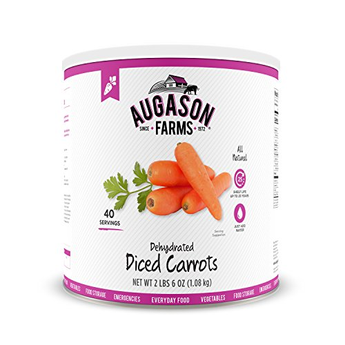 Price comparison product image Augason Farms Dehydrated Diced Carrots 2 lbs 6 oz No. 10 Can