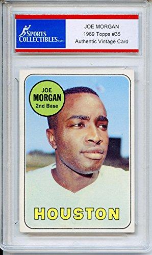 Joe Morgan Authentic 1969 Topps Houston Astros Baseball Card - Certified Authentic (Joe Morgan Astros)
