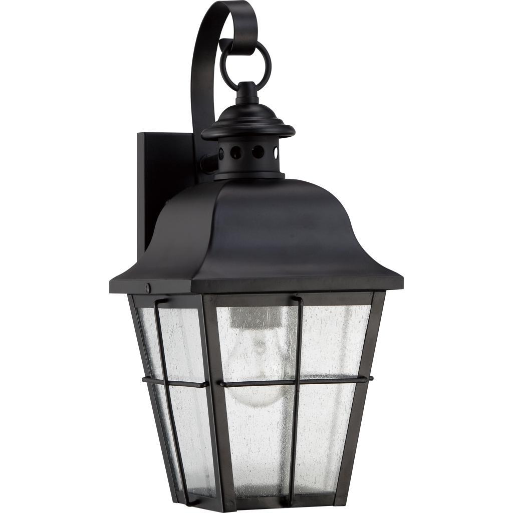 Quoizel mhe8406k millhouse 1 light outdoor lantern mystic black view larger aloadofball Image collections