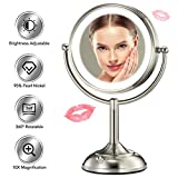 "Best Lighted Makeup Mirrors - Professional 8.5"" Lighted Makeup Mirror, 10X Magnifying Vanity Review"