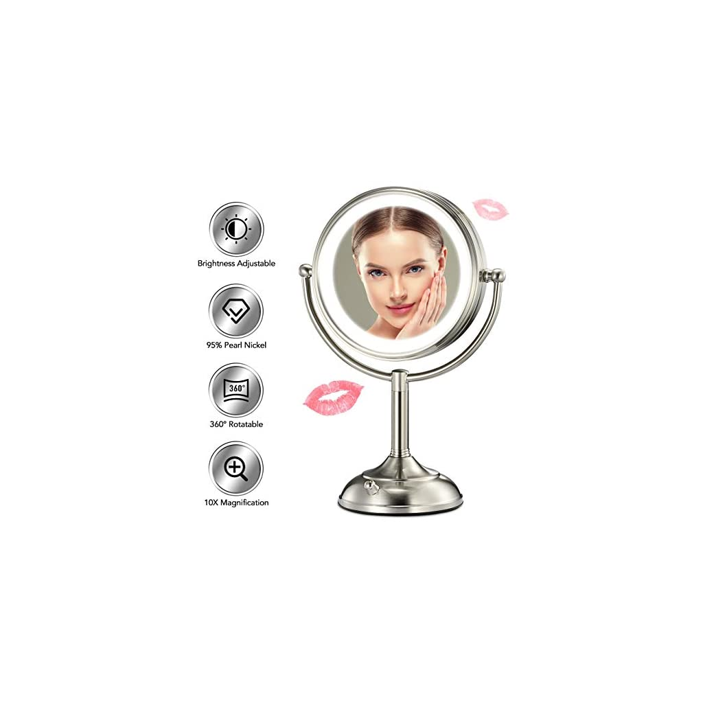 """Professional 8.5"""" Lighted Makeup Mirror"""
