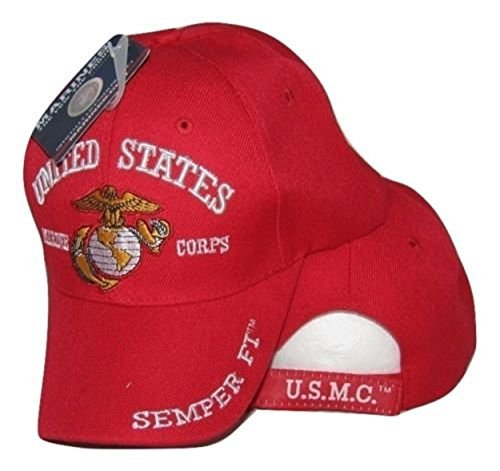 inf Infinity Superstore USMC Marines Corps United States Red Semper Fi 3D Cap Hat 4-07-C