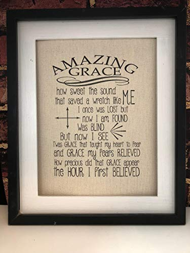 image about Amazing Grace Lyrics Printable identify : Remarkable Grace Unframed Canvas Print: Homemade