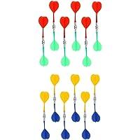 Homyl 24 Piezas/Paquete De Dardos De Repuesto Bullseye Target Plastic Wing De Dardos Magnéticos