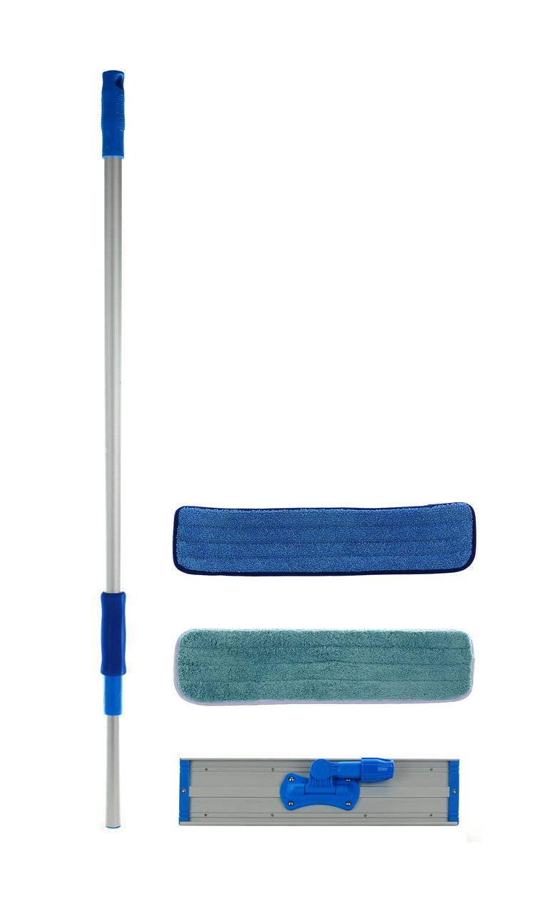 18 inch Professional Commercial Microfiber Mop Kit With Two Microfiber Mop Pads 18''