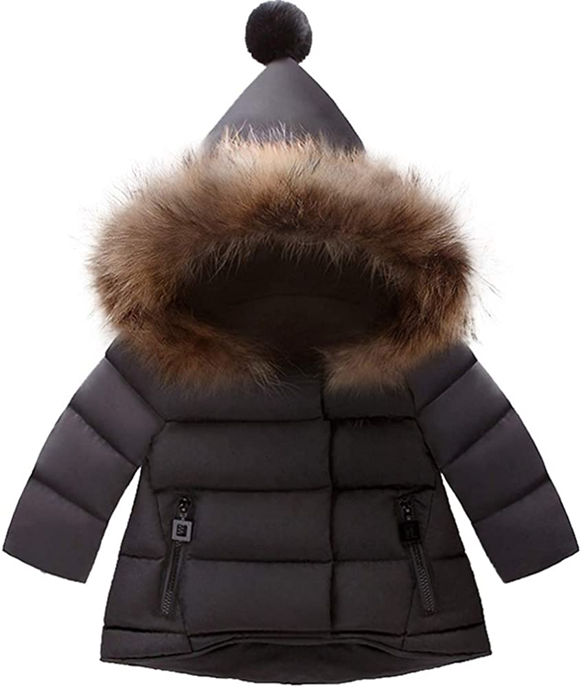 GUUMOR Toddler Baby Boys Girls Winter Outerwear Warm Hooded Coat Kids Star Hooded Jacket