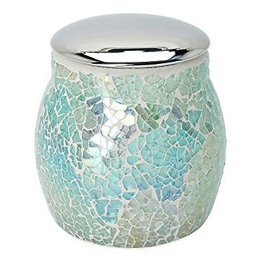 India Ink Aurora Cracked Glass Covered Jar