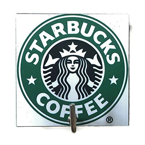 Rubberized 14 Ounce Tumbler (Agility Bathroom Wall Hanger Hat Bag Key Adhesive Wood Hook Vintage White Starbucks Coffee Logo's Photo)