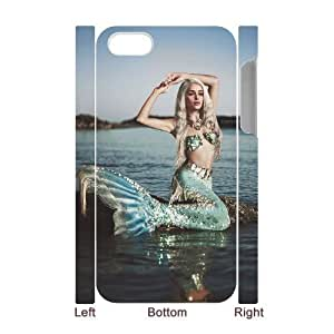 ALICASE Diy 3D Protection Hard Case Mermaid For Iphone 5C [Pattern-1]