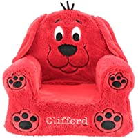 Animal Adventure Sweet Seats Clifford Big Red Dog Cushion | Soft and Plush Childrens Cushion Chair | 14 x 19 x 20