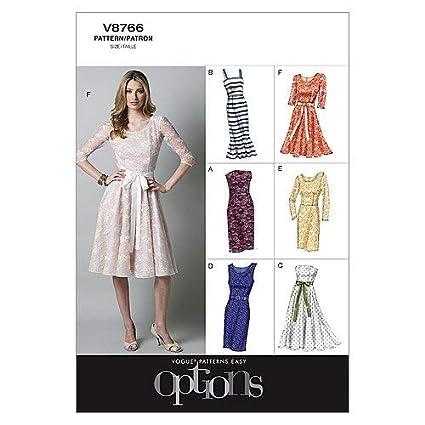 Vogue Patterns V8766 Patrones De Costura Para Vestidos De