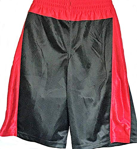 adidas Boys Shorts, Black/Red, Small 8/10