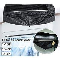 Essort Housse de Climatiseur, Climatiseur Couvercle Nettoyage, Usine Direct Étanche HVAC Climatisation Cover Climatiseur Antipoussière Veste sans Tuyau pour 1-1.5P 1.5-2P 2-3P Climatiseurs