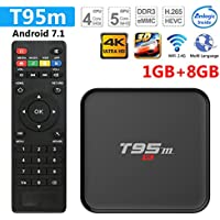 Greatlizard T95M TV Box Android 7.1 1GB/8GB WiFi & LAN VP9 DLNA H.265 HD 4K