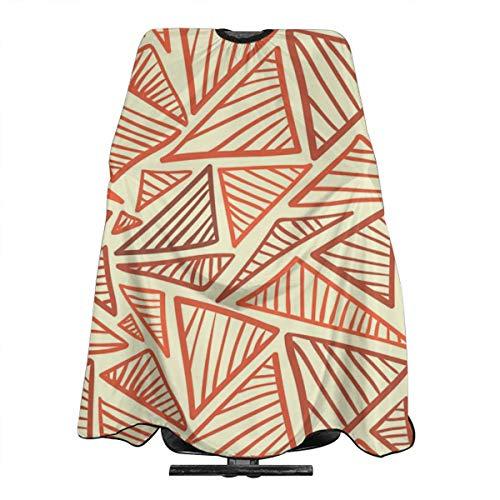 - Hueale Warm Terra Cotta Triangles Personalized Custom Professional Hair Salon Apron, Polyester Hair Shawl 55