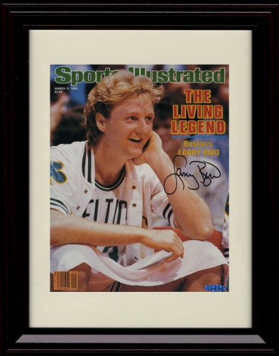 (Framed Larry Bird - Boston Celtics Sports Illustrated Autograph Replica)