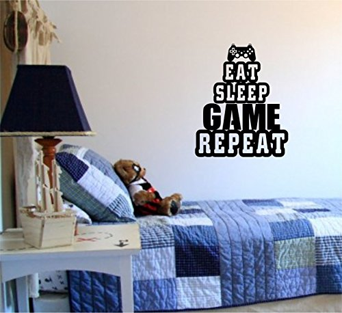 103 Video (Eat Sleep Game Version 103 Gamer Video Game Decal Sticker Wall Boy Girl Teen Child Sport Fight)