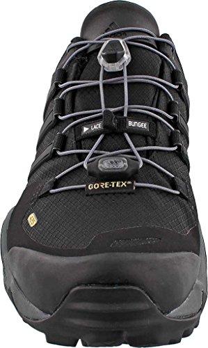 Adidas Sport Performance Heren Terrex Snel R Gore-tex Textiel Wandelen Sneakers Zwart, Zwart, Wit