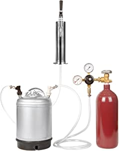 Nitrogen Stout Beer Keg Kit - 2.5 Gallon Keg, Nitrogen Tank, Tap, All Accessories