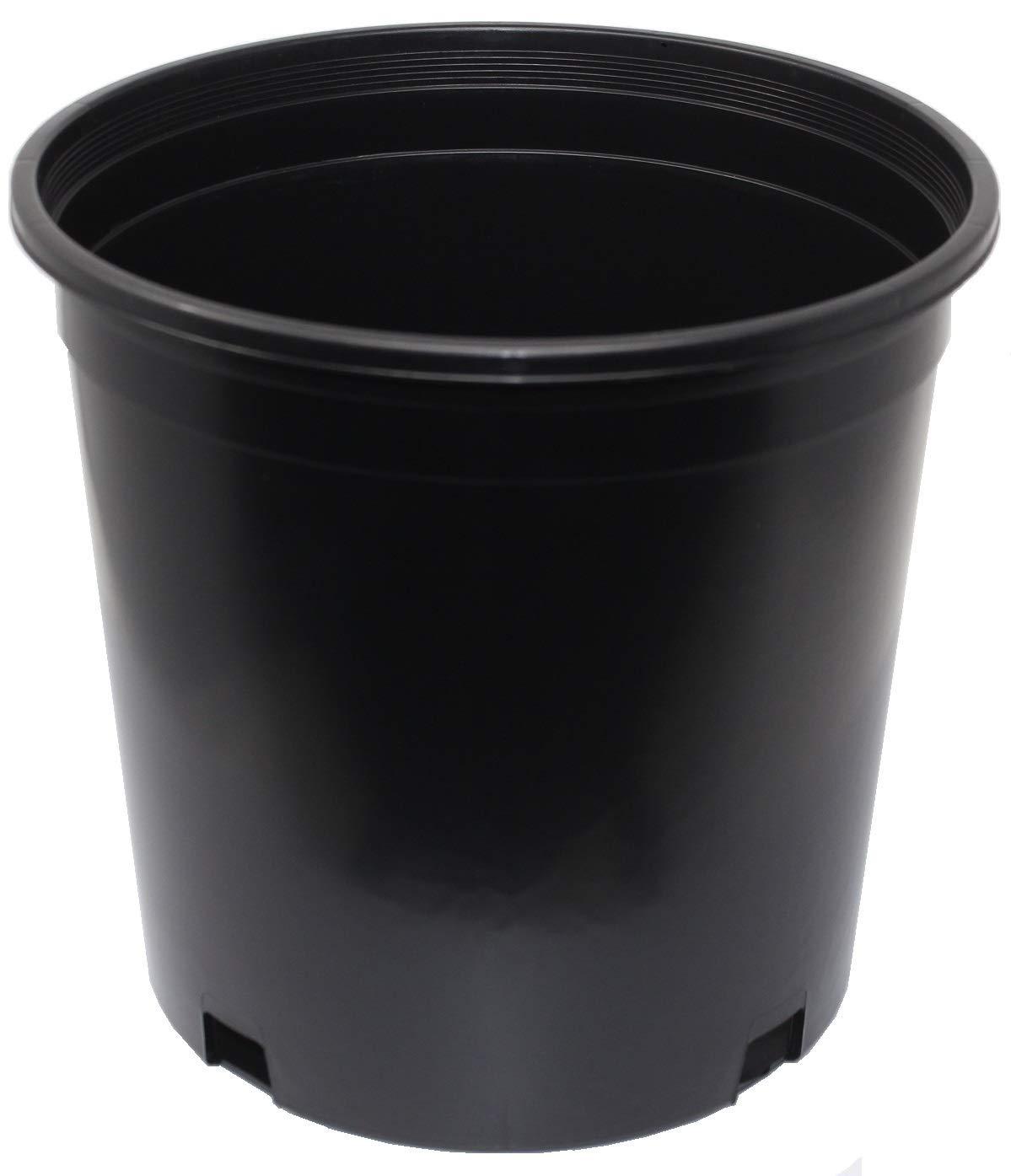 2 Gallon Plant Flower Pot by Hypergreens Plastic Nursery Pot for Plants Packs of 10