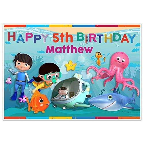Under Sea Little Baby Bum Birthday Banner Party Decoration Backdrop
