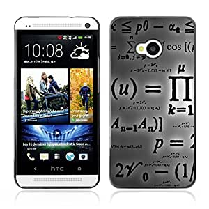 Graphic4You Mathematics Science Symbols Pattern Design Hard Case Cover for HTC One (M7)