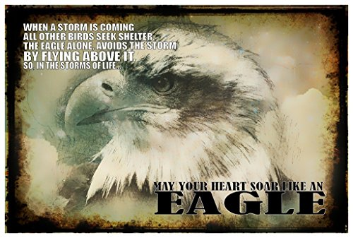 May Your Heart Soar Like An Eagle Poster Wall Print|Inspirational Motivational Gym Classroom Home Office Dorm|18 X 12 In|SJC176