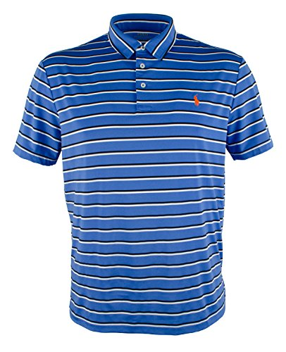 - Polo Ralph Lauren Performance Lisle Polo Shirt (Small, New Iris/Multi)
