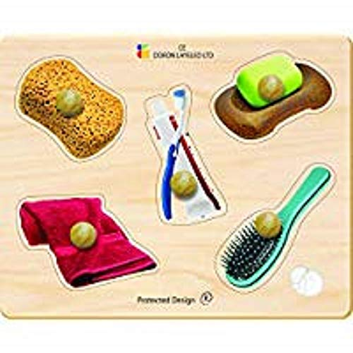 Edushape Large Knob Bath Time Puzzle, 5 Piece
