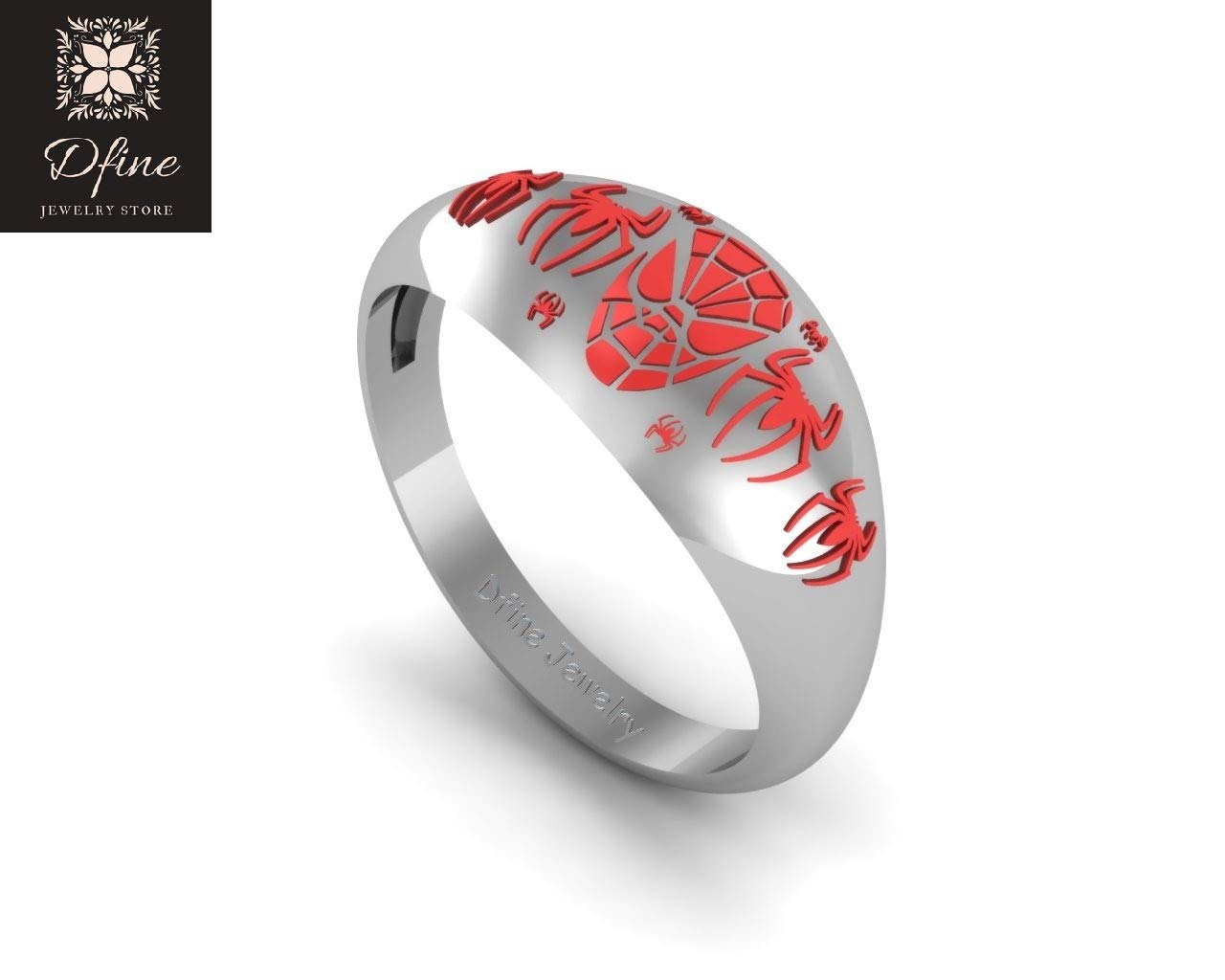 Amazon Com Fantasy Superhero Spider Man Wedding Ring Unisex