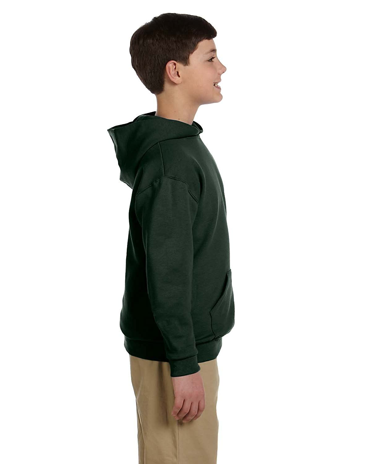 Forest Green Jerzees 50//50 Youth Hooded Pullover Sweatshirt